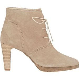 Barneys New York Lace Up Ankle Boots Nude.